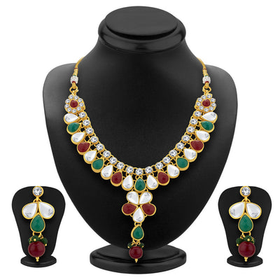 ShoStopper Appealing Gold Plated AD Necklace Set