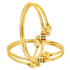 Shostopper Traditional  Gold Plated Bangle Set for Women