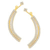 ShoStopper Graceful Gold Plated Austrian Diamond Earcuff