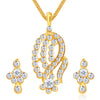 ShoStopper Classy Gold Plated Austrian Diamond Pendant Set