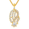 ShoStopper Classy Gold Plated Austrian Diamond Pendant Set-1