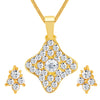 ShoStopper Graceful Gold Plated Austrian Diamond Pendant Set
