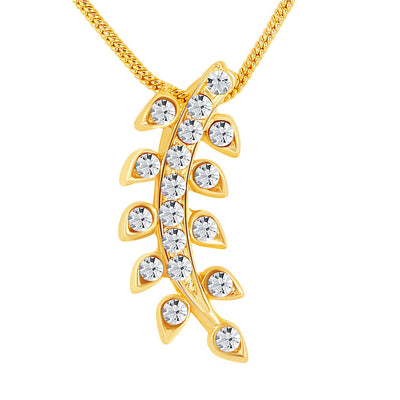 ShoStopper Glimmer Gold Plated Austrian Diamond Pendant Set-1