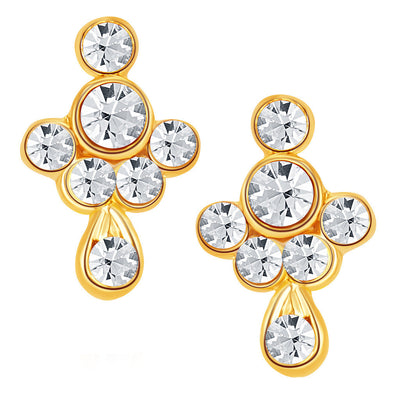 ShoStopper Glimmer Gold Plated Austrian Diamond Pendant Set-2