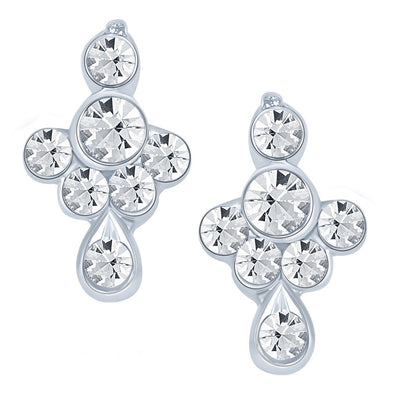ShoStopper Sublime Rhodium Plated Austrian Diamond Pendant Set-2