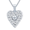 ShoStopper Fascinating Rhodium Plated Austrian Diamond Pendant Set-1