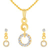 ShoStopper Ritzy Gold Plated Austrian Diamond Pendant Set
