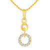 ShoStopper Ritzy Gold Plated Austrian Diamond Pendant Set-1