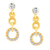 ShoStopper Ritzy Gold Plated Austrian Diamond Pendant Set-2