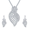 ShoStopper Stunning Rhodium Plated Austrian Diamond Pendant Set