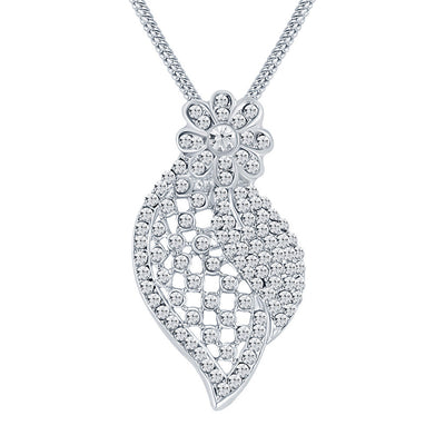 ShoStopper Stunning Rhodium Plated Austrian Diamond Pendant Set-1