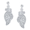 ShoStopper Stunning Rhodium Plated Austrian Diamond Pendant Set-2
