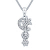 ShoStopper Excellent Rhodium Plated Austrian Diamond Pendant Set-1