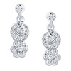ShoStopper Excellent Rhodium Plated Austrian Diamond Pendant Set-2
