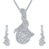 ShoStopper Gorgeous Rhodium Plated Austrian Diamond Pendant Set