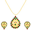 ShoStopper Eye-Catch Gold Plated Meenakari Pendant Set