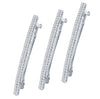 ShoStopper Ethnic Rhodium Plated Austrian Diamond Set of 3 Hair Clip