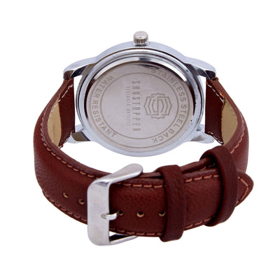 Shostopper Ceremonial White Dial Analogue Watch For Men - SJ60005WM-3