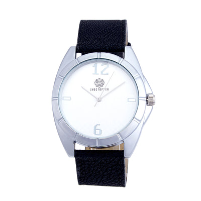 Shostopper Simplest White Dial Analogue Watch For Men - SJ60007WM