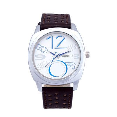 Shostopper Exotic White Dial Analogue Watch For Men - SJ60016WM