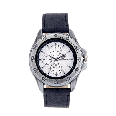 Shostopper Racer White Dial Analogue Watch For Men - SJ60025WM