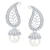ShoStopper Marquise Rhodium Plated Austrian Diamond Earring
