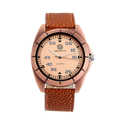Shostopper Attractive Brown Dial Analogue Watch For Men - SJ60030WM