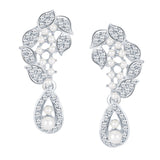 ShoStopper Exquisite Rhodium Plated Austrian Diamond Earring