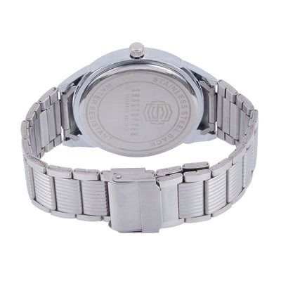 Shostopper Casual Metallic Grey Dial Analogue Watch For Men - SJ60043WM-3