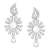 ShoStopper Finely Rhodium Plated Austrian Diamond Earring