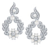 ShoStopper Shimmering Rhodium Plated Austrian Diamond Earring