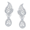 ShoStopper Divine Rhodium Plated Austrian Diamond Earring
