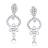 ShoStopper Designer Rhodium Plated Austrian Diamond Earring