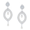 ShoStopper Bewitching Rhodium Plated Austrian Diamond Earring