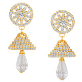 ShoStopper Fancy Gold Plated Austrian Diamond Earring