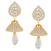 ShoStopper Glistening Gold Plated Austrian Diamond Earring