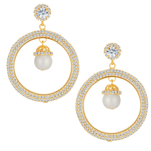 ShoStopper Alluring Gold Plated Austrian Diamond Earring