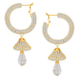ShoStopper Glittery Gold Plated Austrian Diamond Earring