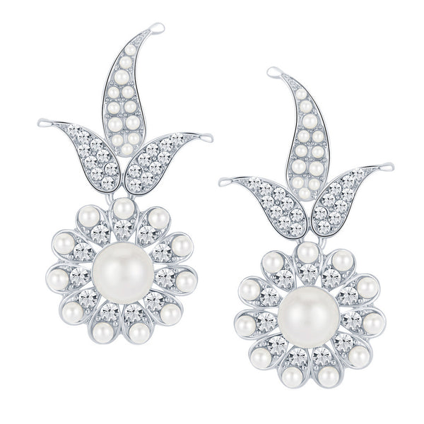 ShoStopper Marvellous Rhodium Plated Austrian Diamond Earring