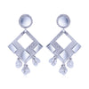 Sukkhi Glossy Rhodium Plated Dangle Earring For Women