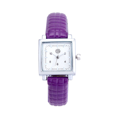 Shostopper Time Sqaure Silver Dial Analogue Watch For Women - SJ62002WW