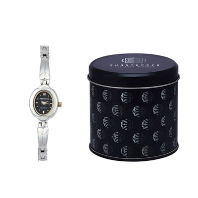 Shostopper Charming Black Dial Analogue Watch For Women - SJ62025WW-1