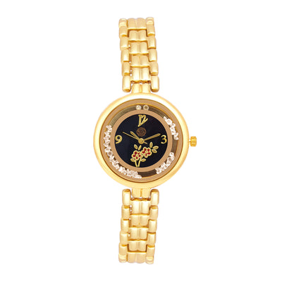Shostopper Royal Queen Black Dial Analogue Watch For Women - SJ62035WW