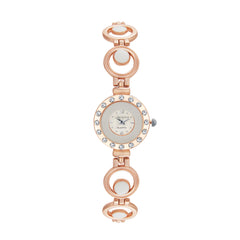 Shostopper Designer White Dial Analogue Watch For Women - SJ62046WW