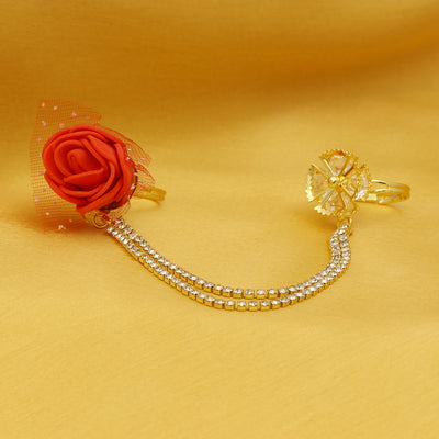 Sukkhi Attractive Gold Plated Rose Ring For Women
