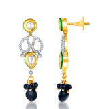Pissara Kundan-CZ Gold and Rhodium plated Pretty Mangal Sutra Set -2