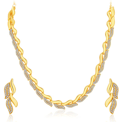 Sukkhi Sparkling Gold Plated Austrian Diamond Set of 4 Necklace Combo for Women
