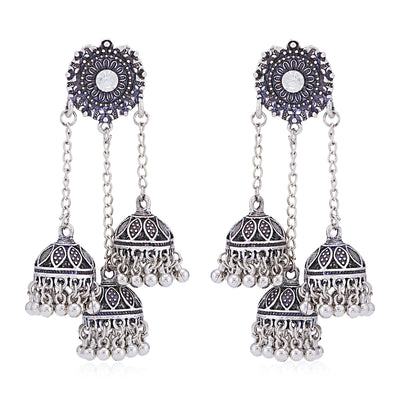 Sukkhi Alluring Oxidised Chandelier Earring for Women