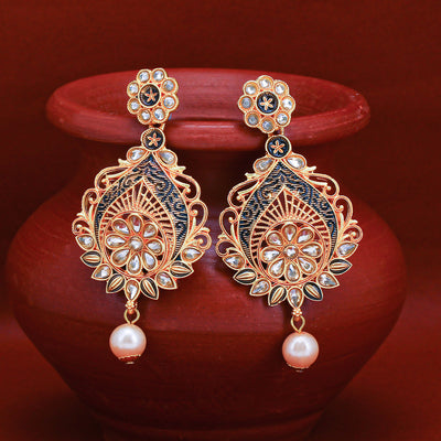 Sukkhi Spectacular LCT Gold Plated Pearl Chandelier Earring For Women
