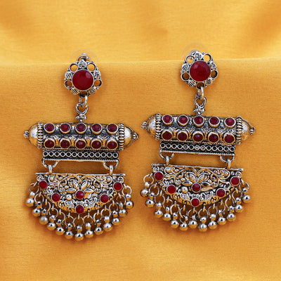 Sukkhi Fascinating Oxidised Chandelier Earring for Women